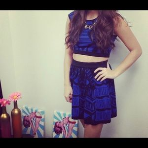 2 piece skirt and tank top outfit!